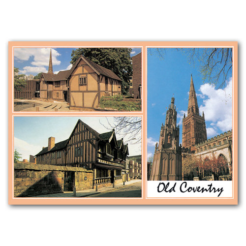 Coventry Old 3 View Comp - Sold in pack (100 postcards)