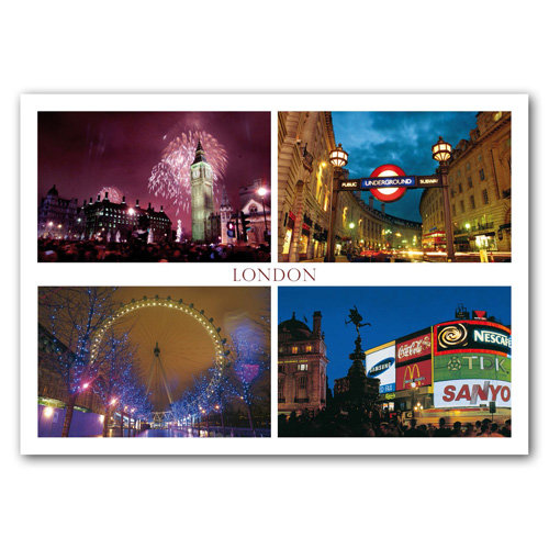 London 4 View - Sold in pack (100 postcards)