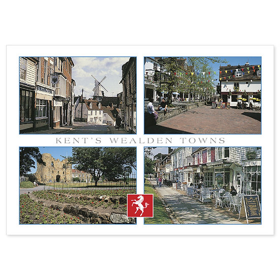 Kent Wealden Towns - Sold in pack (100 postcards)