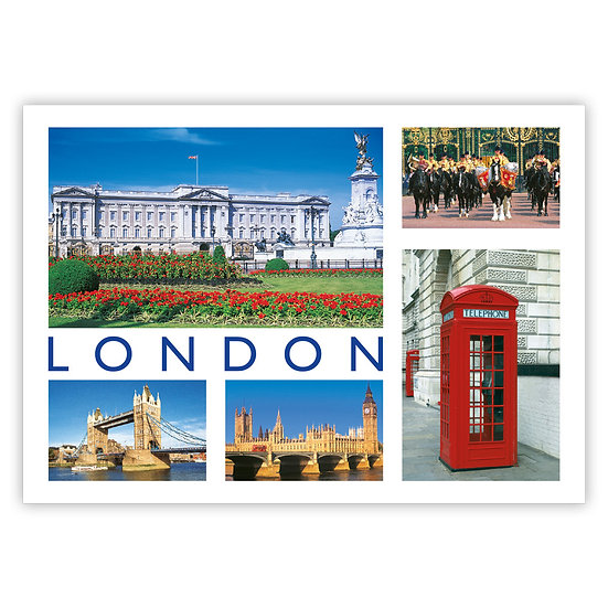 London 5 View Composite - Sold in pack (100 postcards)