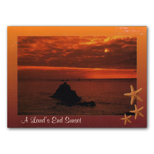 Land's End Sunset - Sold in pack (100 postcards)
