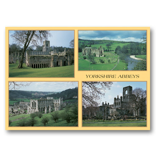 Yorkshire Abbeys - Sold in pack (100 postcards)