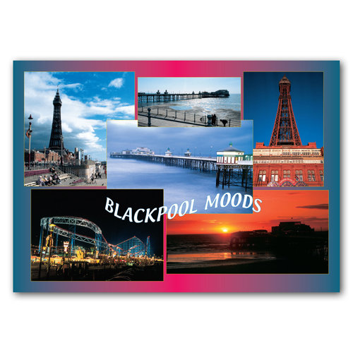 Blackpool Moods - Sold in pack (100 postcards)