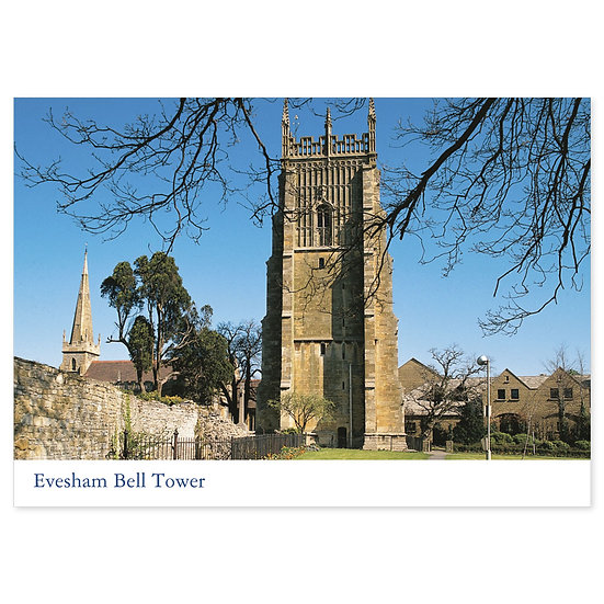 Evesham Bell Tower - Sold in pack (100 postcards)