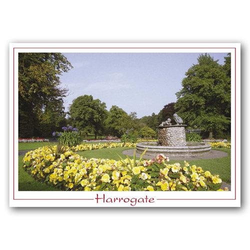 Harrogate Valley Gardens - Sold in pack (100 postcards)