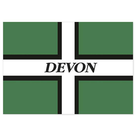 Devon Flag - Sold in pack (100 postcards)