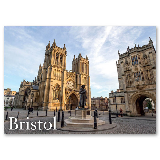 Bristol Centre. Cathedral, Gt Abbey Gatehouse, Green - Sold in pack (100 pos