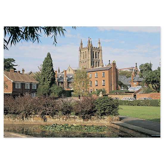 Hereford Cathedral from Cast - Sold in pack (100 postcards)