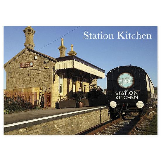 Bridport Station Kitchen - Sold in pack (100 postcards)