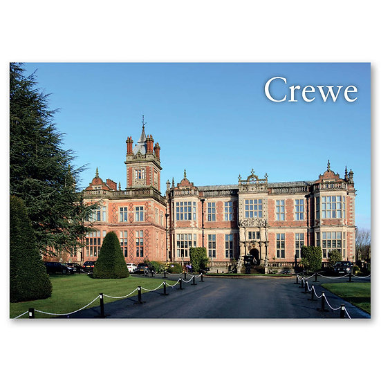 Crewe Hall - Sold in pack (100 postcards)