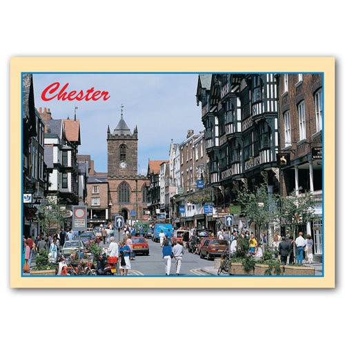 Chester Bridge Street - Sold in pack (100 postcards)
