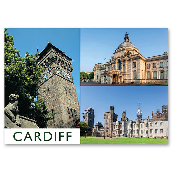 Cardiff, 3 view Composite - Sold in pack (100 postcards)