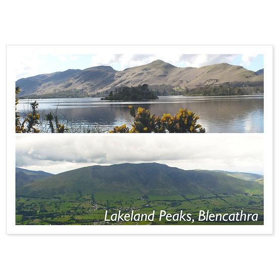 Lakeland Peaks, Blencathra - Sold in pack (100 postcards)