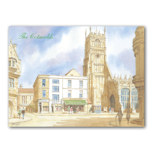Cirencester Watercolour - Sold in pack (100 postcards)