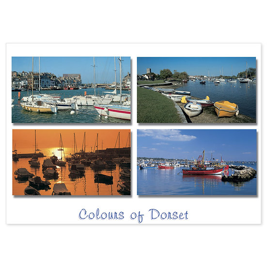 Dorset Just Harbour and Quay - Sold in pack (100 postcards)