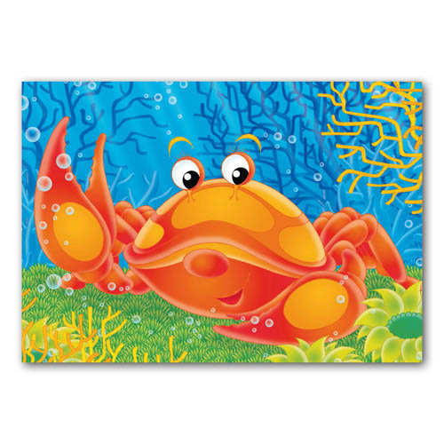 Seaside Pals - Crab - Sold in pack (100 postcards)