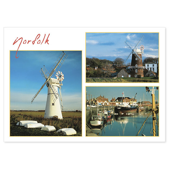 Norfolk Broads Windmills - Sold in pack (100 postcards)