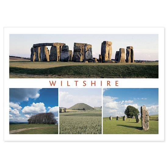 Wiltshire Ancient Comp - Sold in pack (100 postcards)