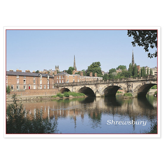 Shrewsbury River - Sold in pack (100 postcards)