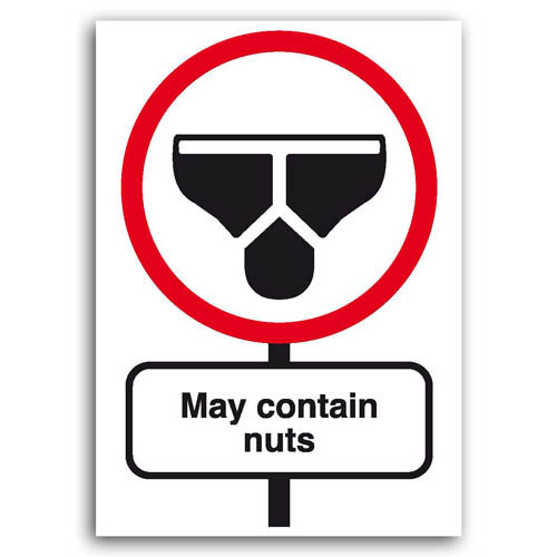 Road Signs - May Contain Nuts - Sold in pack (100 postcards)