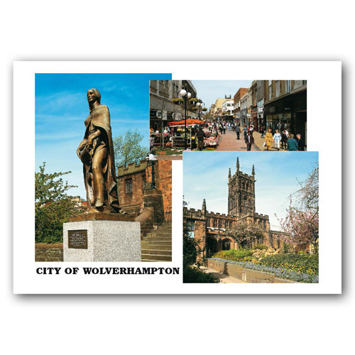 Wolverhampton 3 View Comp - Sold in pack (100 postcards)