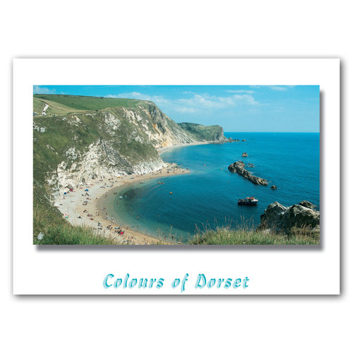 Dorset Just St Oswald's Bay - Sold in pack (100 postcards)