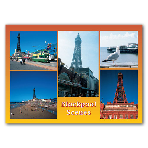 Blackpool Scenes - Sold in pack (100 postcards)