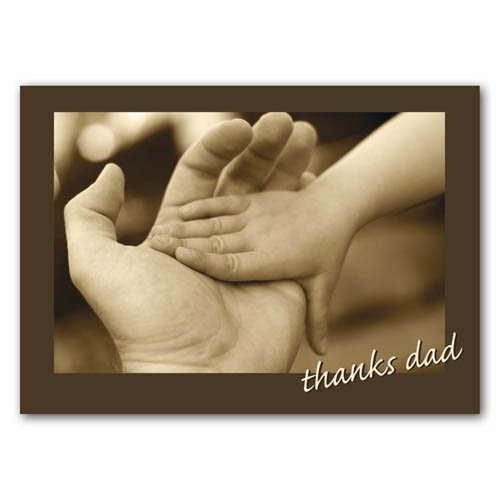 Thank You - Dad - Sold in pack (100 postcards)