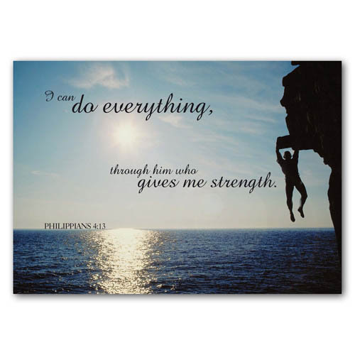 Bible Verse I Can Do Everything - Sold in pack (100 postcards)