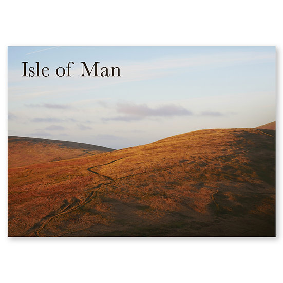Isle of Man : Sunset on Mullagh Ouyr - Sold in pack (100 postcards)