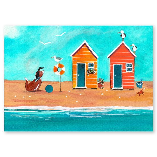 Lazy Days by A. Paget : A Little Bird - Sold in pack (100 postcards)