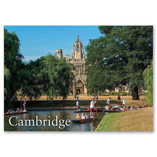 Cambridge, Punting by St John's - Sold in pack (100 postcards)