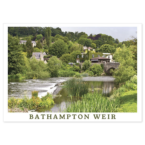 Bathampton Weir - Sold in pack (100 postcards)