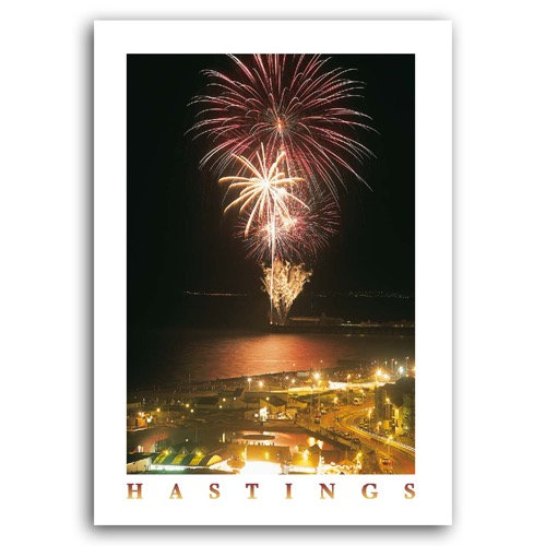 Hastings Fireworks - Sold in pack (100 postcards)