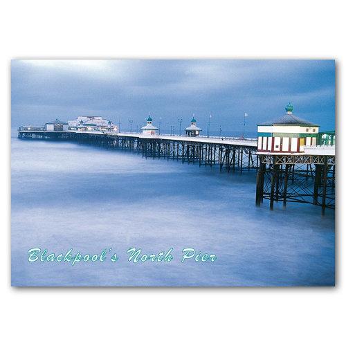 Blackpool Nightime Fun in - Sold in pack (100 postcards)