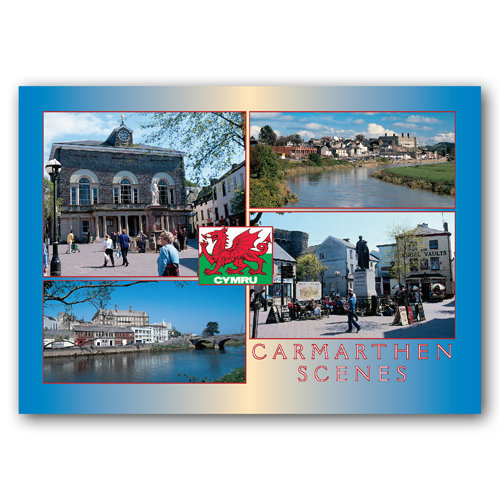 Carmarthen - Sold in pack (100 postcards)