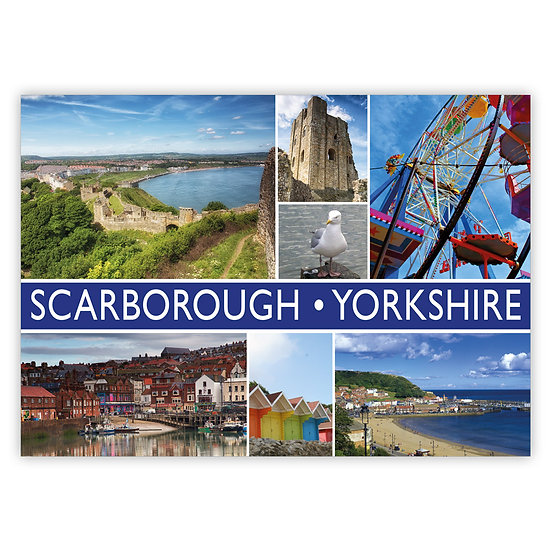 Scarborough Yorkshire 7 View Comp - Sold in pack (100 postcards)