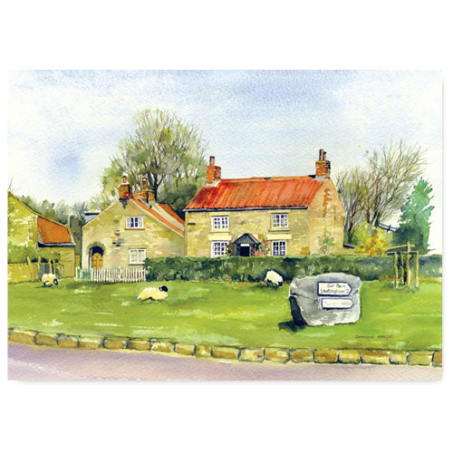 Hutton Le Hole Watercolour by Catherine Bartle - Sold in pack (100 postcards)