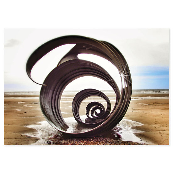 Mary's Shell Cleveleys Beach - Sold in pack (100 postcards)