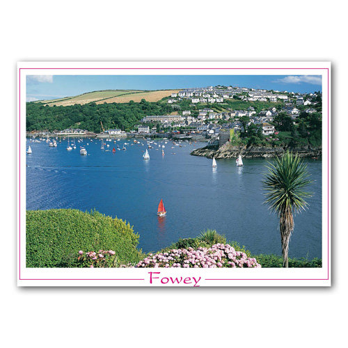 Cornwall Fowey - Sold in pack (100 postcards)