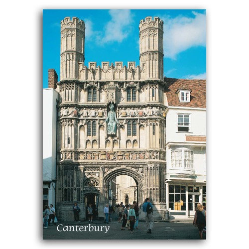 Canterbury Christ Church Gate - Sold in pack (100 postcards)