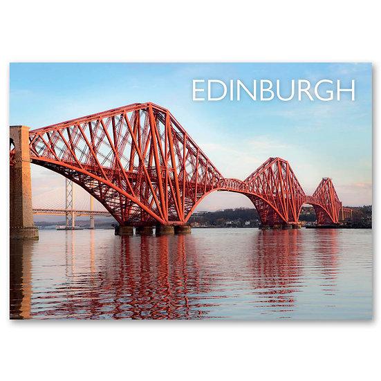 Edinburgh, Forth Rail Bridge at dawn - Sold in pack (100 postcards)