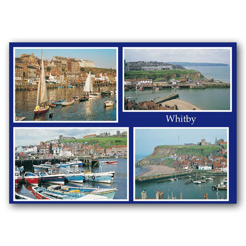 Whitby 4 View Comp - Sold in pack (100 postcards)