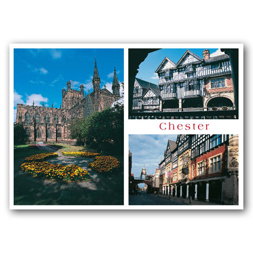 Chester Comp View - Sold in pack (100 postcards)