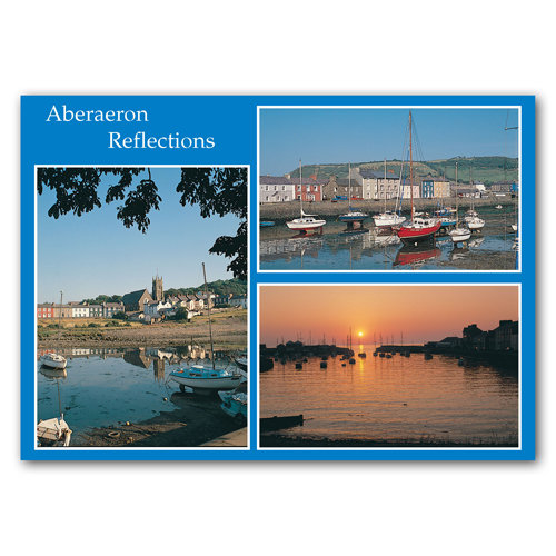 Aberaeron Reflections - Sold in pack (100 postcards)