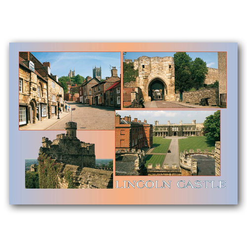 Lincoln Castle Comp - Sold in pack (100 postcards)