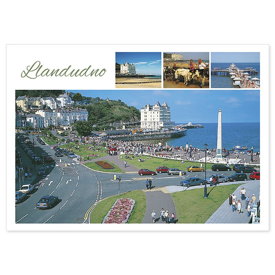 Llandudno 4 View Compilation - Sold in pack (100 postcards)