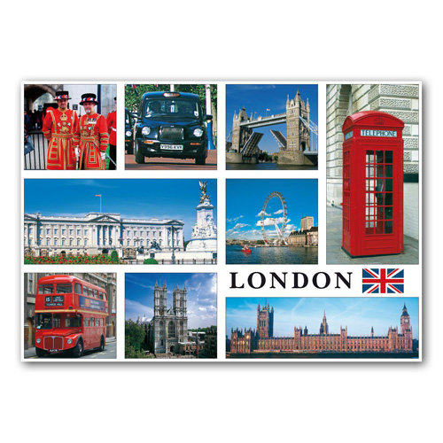 London 9 View - Sold in pack (100 postcards)