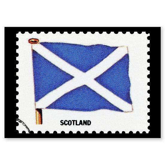 Scotland Flag/Stamp - Sold in pack (100 postcards)