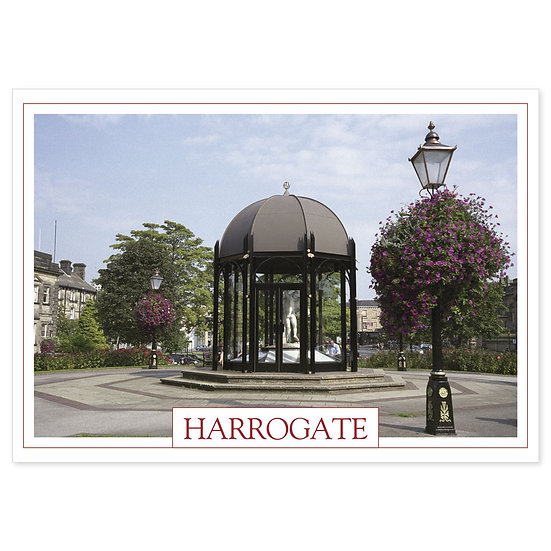 Harrogate Crescent Gardens - Sold in pack (100 postcards)